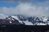 Le nuvole non concedono la vista della del Cerro Huemul