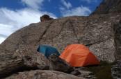 Il campo chiamato Puma Camp, verso il Cerro Solo