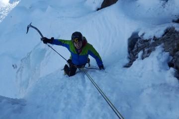 Salita alla cascata di ghiaccio Specchi di Biancaneve a Sappada