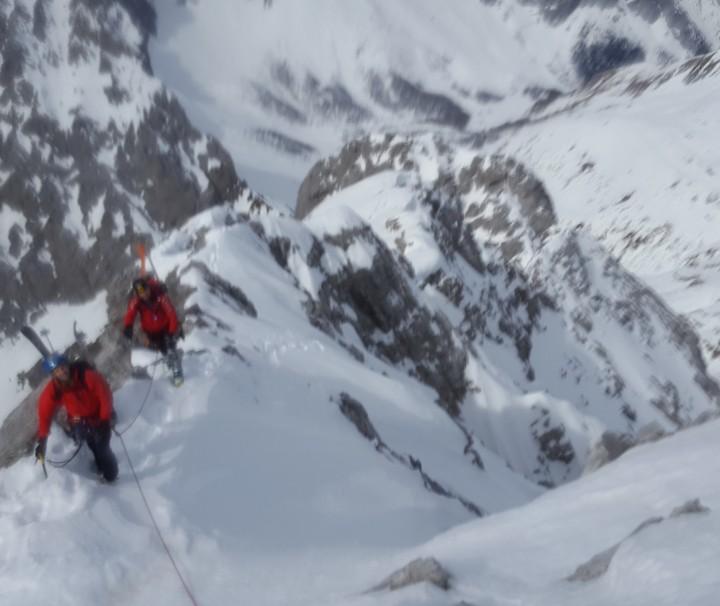 Salita invernale alla parete nord del Monte Coglians Alpi Carniche