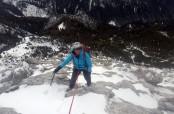 Salita invernale al Monte Brentoni Alpi carniche
