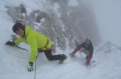Scialpinismo canalone Kugy allo Jalovec siulle Alpi Giulie